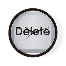 Delete Button Computer Key Wall Clock