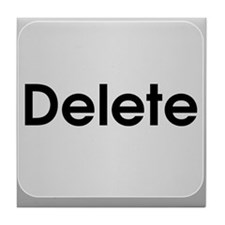 Delete Button Computer Key Tile Coaster