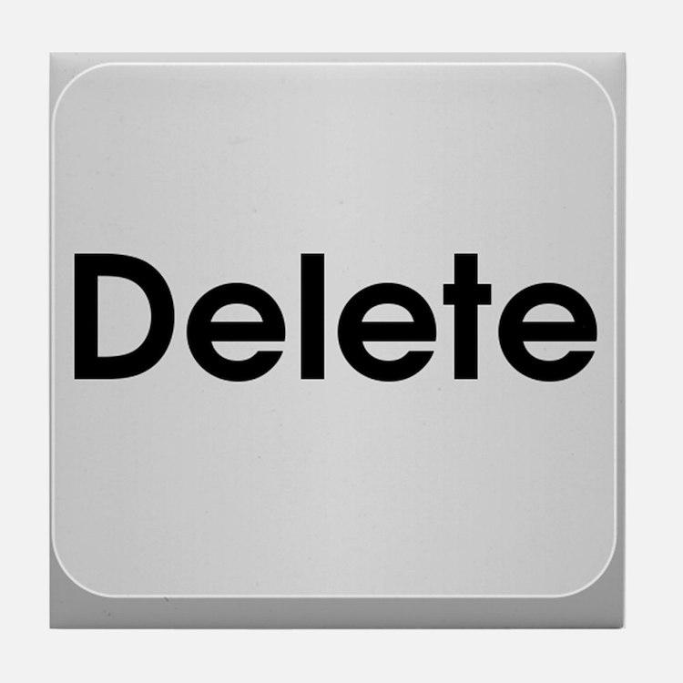 Delete Button Computer Key Tile Coaster