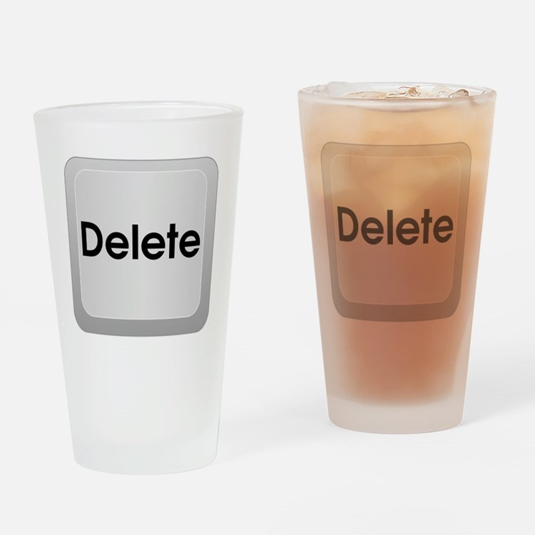 Delete Button Computer Key Drinking Glass