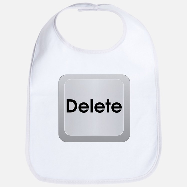 Delete Button Computer Key Bib