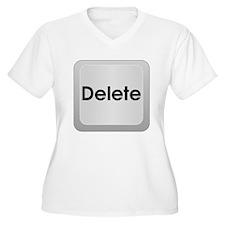 Delete Button Computer Key Plus Size T-Shirt