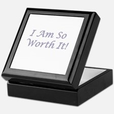 I Am So Worth It Keepsake Box