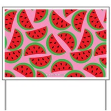 Cute Watermelon on Summer Colors (5) Yard Sign