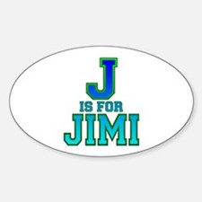 J is for Jimi Oval Decal