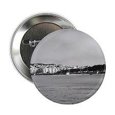 """Black & &white Beach Stroll 2.25"""" Button"""