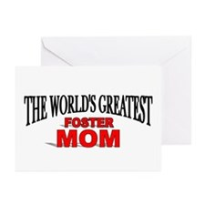 """The World's Greatest Foster Mom"" Greeting Cards ("