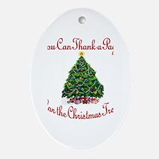 Thank a Pagan.. Oval Ornament