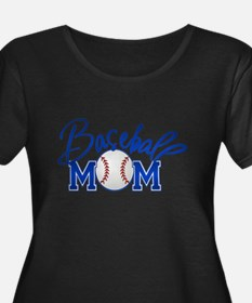 Baseball Mom Plus Size T-Shirt