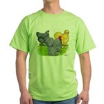 Feather-legged Bantams Green T-Shirt