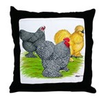 Feather-legged Bantams Throw Pillow