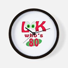 Look who's 80 ? Wall Clock