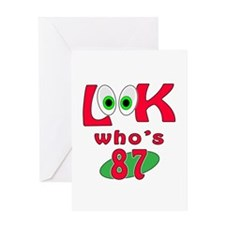 Look who's 87 ? Greeting Card