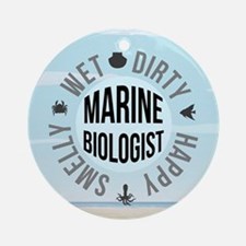 Marine Biologist Ornament (Round)