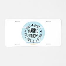 Marine Biologist Aluminum License Plate