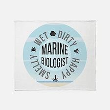 Marine Biologist Throw Blanket