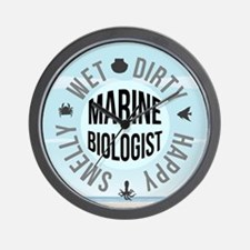 Marine Biologist Wall Clock
