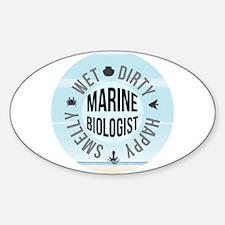 Marine Biologist Sticker (Oval)