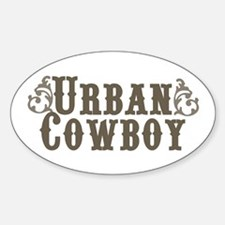 Urban Cowboy Oval Decal