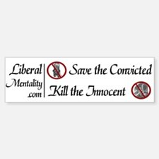 Save the Convicted Bumper Bumper Bumper Sticker