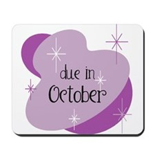 Due In October Retro Mousepad