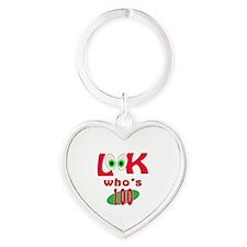 Look who's 100 ? Heart Keychain
