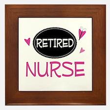 Retired Nurse Framed Tile