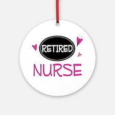 Retired Nurse Ornament (Round)