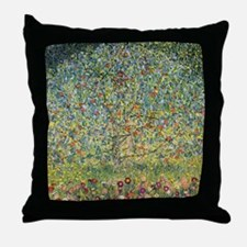 Apple Tree Klimt Throw Pillow