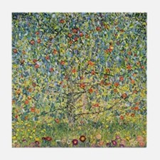 Apple Tree Klimt Tile Coaster