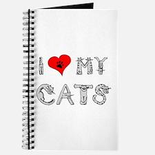 I love my cats / heart Journal