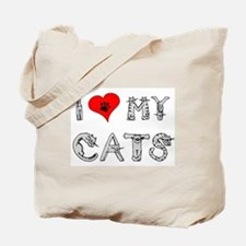 I love my cats / heart Tote Bag