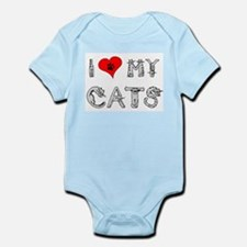 I love my cats / heart Infant Bodysuit