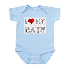 I love my cats / heart Onesie