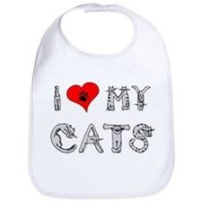 I love my cats / heart Bib