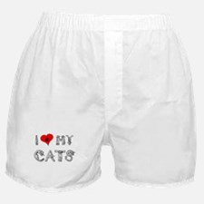 I love my cats / heart Boxer Shorts