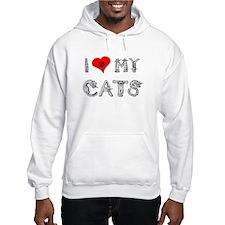 I love my cats / heart Hoodie