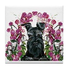 Black Schnauzer Tile Coaster