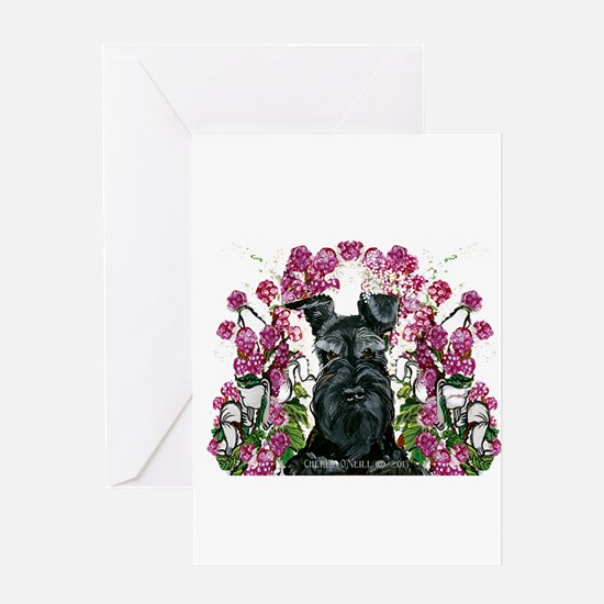 Black Schnauzer Greeting Card