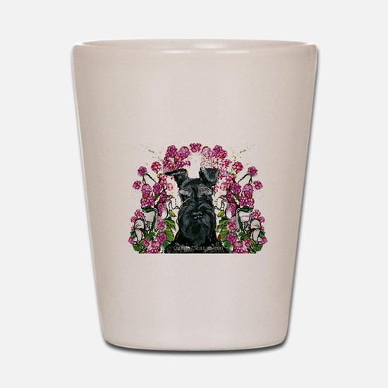 Black Schnauzer Shot Glass