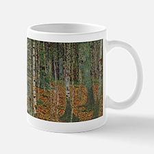 birch forest klimt Mug