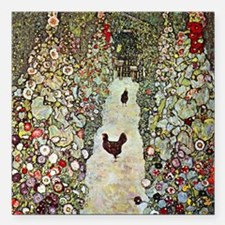 """chickens Square Car Magnet 3"""" x 3"""""""