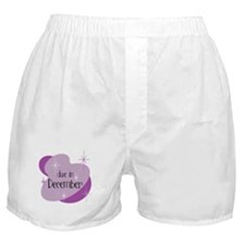 Due In December Retro Boxer Shorts