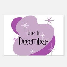 Due In December Retro Postcards (Package of 8)