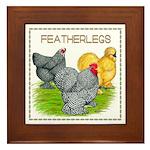 Feather-leg Trio Framed Tile