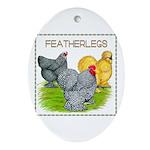 Feather-leg Trio Oval Ornament