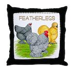 Feather-leg Trio Throw Pillow