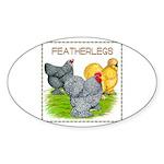 Feather-leg Trio Oval Sticker