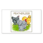 Feather-leg Trio Rectangle Sticker