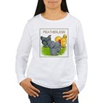 Feather-leg Trio Women's Long Sleeve T-Shirt
